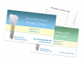 Carte de rendez-vous - IMPLANT vert bleu coins droits