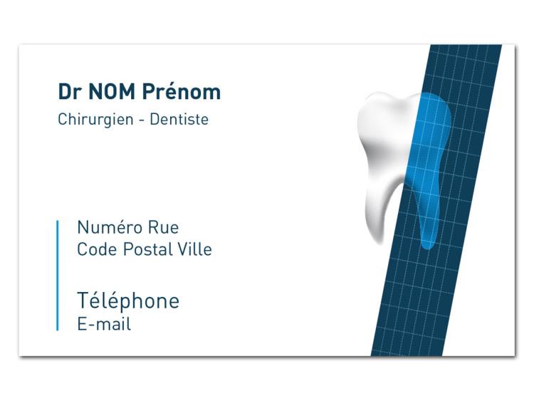 Carte de rendez-vous - RUBAN Bleu coins droits