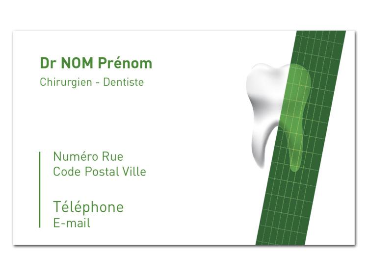 Carte de rendez-vous - RUBAN Vert coins droits