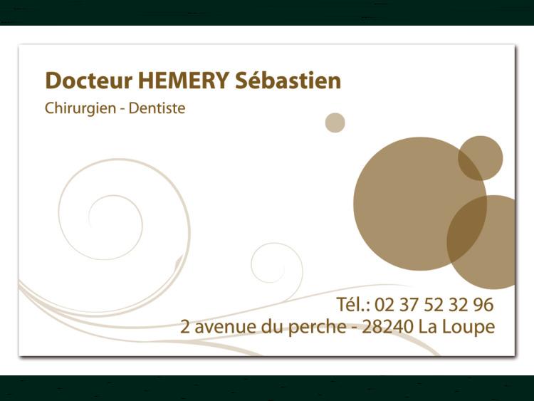 DR HEMERY Sébastien Volute marron coins droits