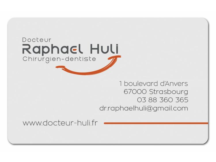 DR HULI Raphael Personnalisé coins ronds