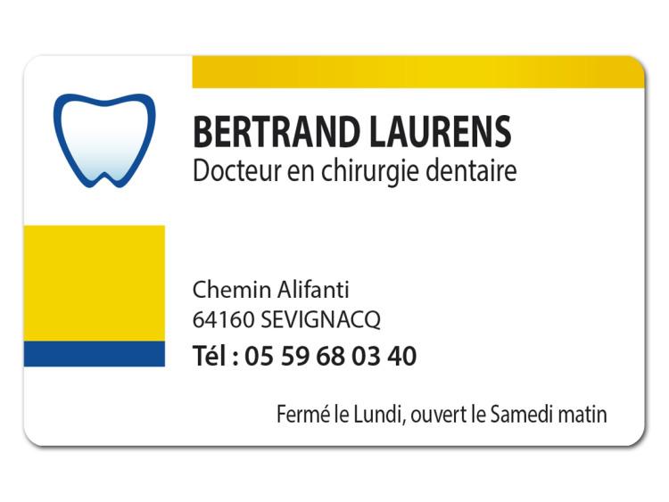 DR LAURENS Bertrand Personalisé coins ronds
