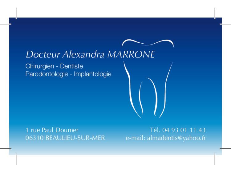 DR MARRONE Alexandra CV coins droits