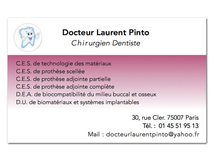 DR PINTO LAURENT Personnalisé coins droits
