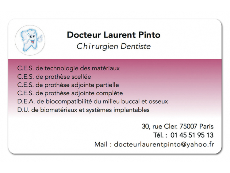 DR PINTO LAURENT Personnalisé coins ronds