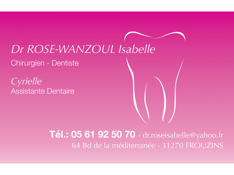 DR ROSE-WANZOUL Isabelle Rose Coins Ronds
