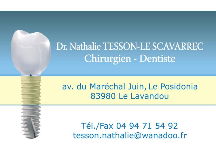DR TESSON-LE SCAVARREC Implant Bleu coins ronds