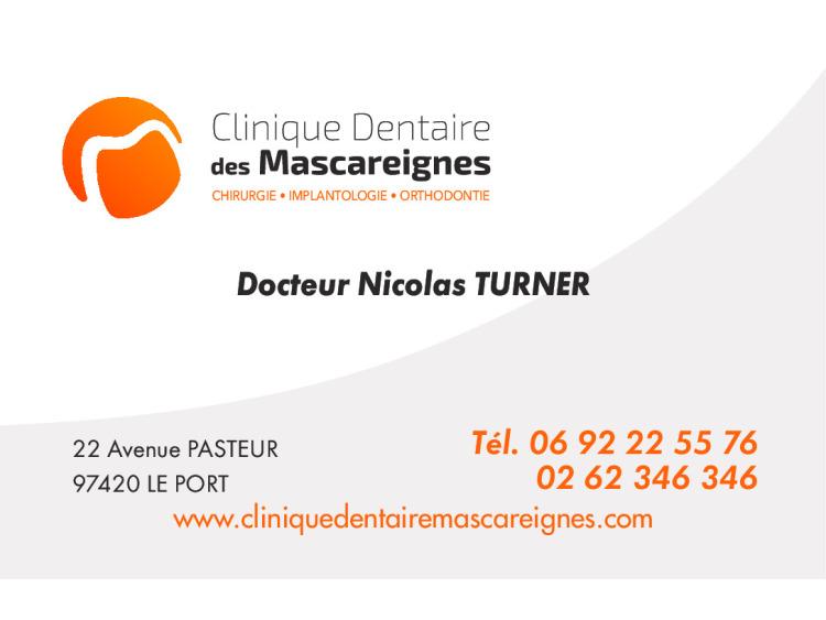 DR TURNER Nicolas Personnalisé coins ronds