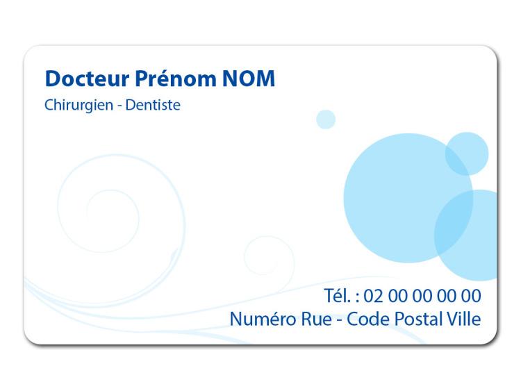 Carte de rendez-vous - VOLUTE bleue coins ronds