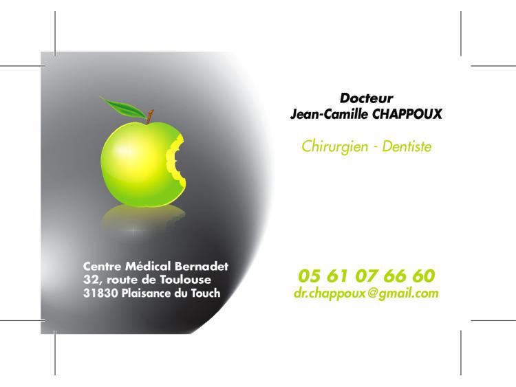 RETIRAGE CRDV DR CHAPPOUX JEAN CAMILLE Pomme verte coins droits