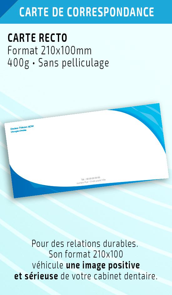 Cartes de correspondance dentiste